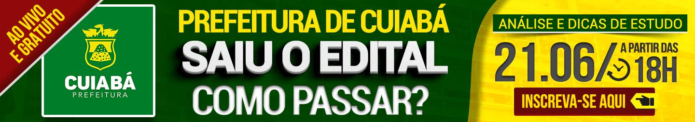 21/06 - COMO PASSAR? PREFEITURA DE CUIABÁ